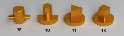 Dociski kłódki energetycznej K-1P, K-1U, K-1T, K-1K