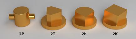 Dociski kłódki energetycznej: K-2P, K-2T, K-2Ł, K-2K